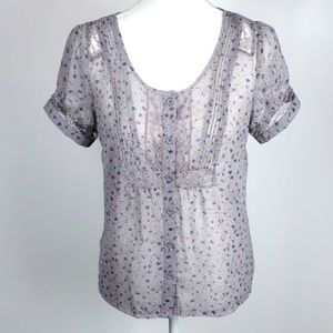 American Eagle Floral Cottagecore Top - small